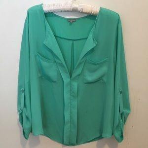 Women's green blouse